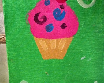 Cupcake on Canvas