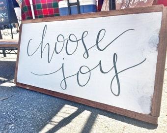Choose Joy Framed | Wooden sign