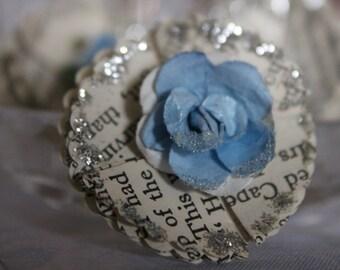 Vintage Storybook Flowers - BLUE. Scrapbooking, cardmaking, altered arts.