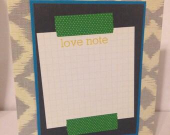 Love Note Greeting Card- Handmade