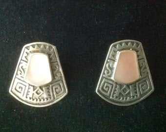 BOMA Sterling Silver Pink Mother-of-Pearl Post Earrings...Beautiful!