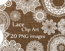 "Digital lace clipart: ""LACE CLIP ART"" wedding lace white lace Lace Doilies Clipart Wedding Clip art  Lace Vintage Doilies White Lace Overlay"