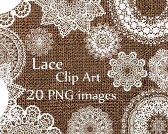 """Digital lace clipart: """"LACE CLIP ART"""" wedding lace white lace Lace Doilies Clipart Wedding Clip art  Lace Vintage Doilies White Lace Overlay"""