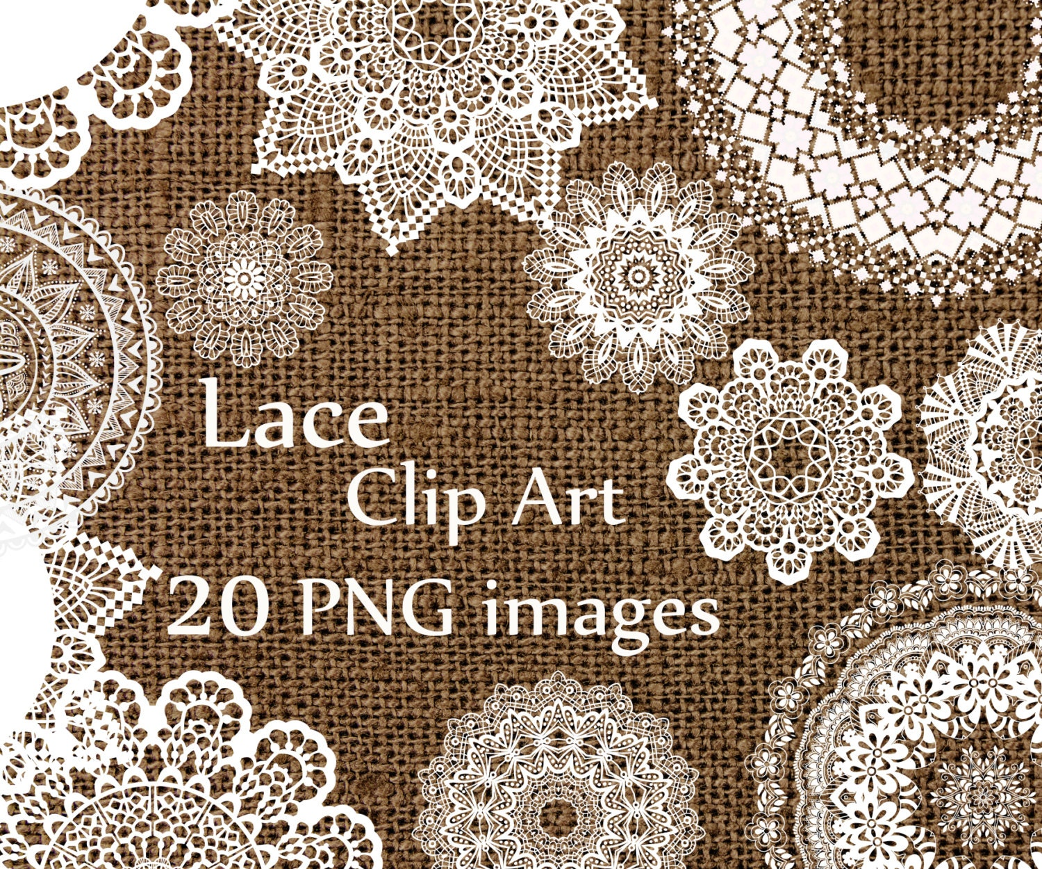 Digital lace clipart lace clip art wedding lace by chilipapers