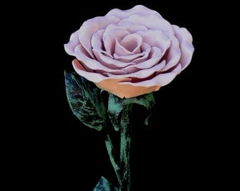 Hand made metal rose, Metal  Sculpture