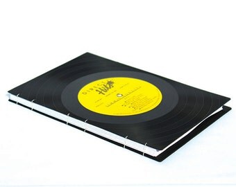 Yellow Vinyl Record Journal / Sketchbook