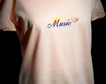 Screenprint. Tshirt. Shirt. Music. Peace. Summer.