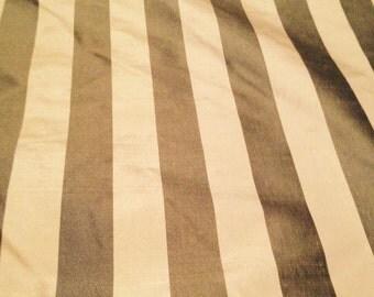 Fabric - Lightweight Taffeta - Taupe - Home Decor - 5 1/3 Yards available