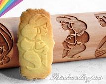 12 Disney princess Pattern,engraved Rolling pins,Disney princess cookie mold,Disney princess cookies,Disney princess cookie cutter,frozen