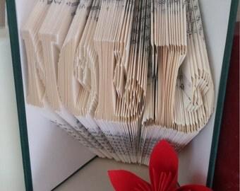 Noel Book Folding Pattern