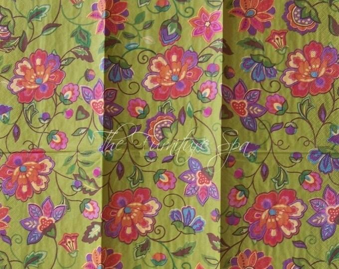 Fresh Impressions Decoupage Paper Napkin