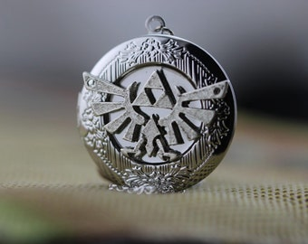 silver necklace the legend of zelda locket jewelry Christmas gifts