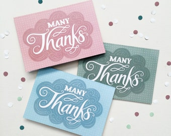 Thank you card - Hand lettering