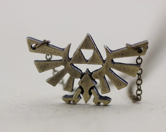 The Legend of Zelda jewelry Triforce necklace Metal Pendant gift Halloween gift Christmas gifts -627-