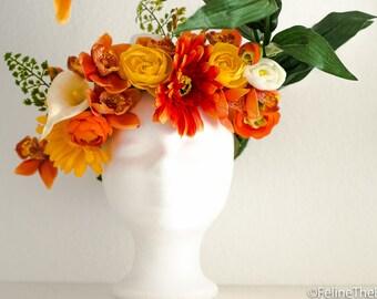"""Flower headpiece """"late summer"""""""