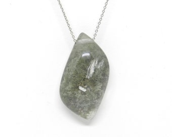 Small Worlds: Garden Moss Quartz Necklace
