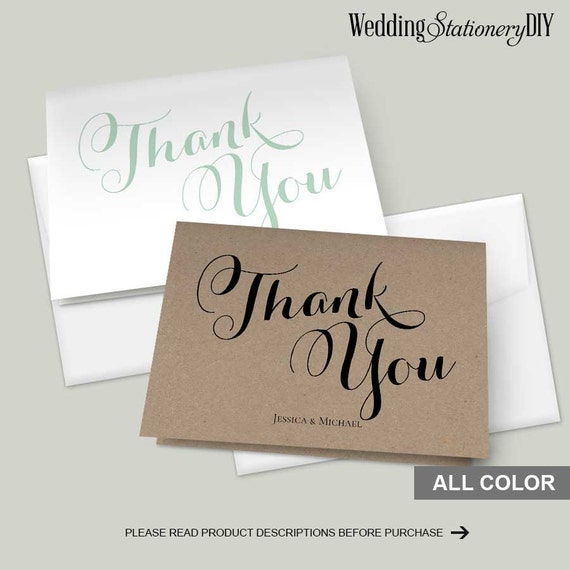 diy wedding thank you card templates - 28 images - diy printable ...