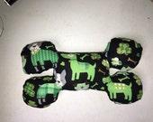 St Patricks Day Dogs Bone Shaped Squeak Dog Toy