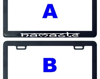Namaste assorted assorted license plate frame holder tag
