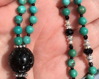 Turquoise Mala Necklace