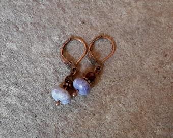 Sweet Lilac Gemstone Earrings