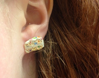 Birthday Cake Post Earrings