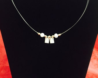 Necklace with mother of pearl charm