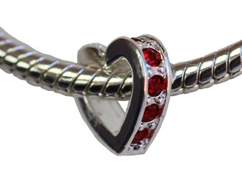 Beautiful Silver Plated charm fits popular charms bracelets