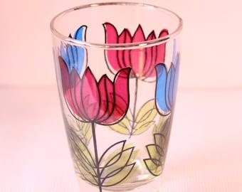 Libbey Hostess Flowered Glasses