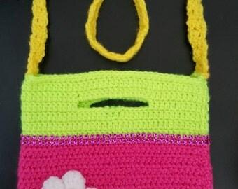 Crochet bag,crochet handbag,crochet girls bag,crochet purse,handmade purse,crochet childs bag,girls purse,girls crochet purse,gift for girl