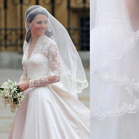 Kate Middleton Veil Inspired Princess Elbow