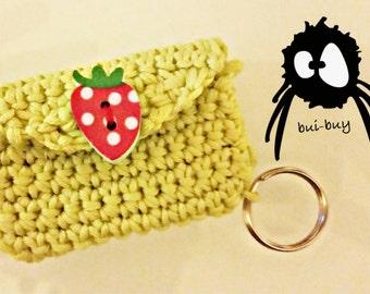 Keychain crochet clutch