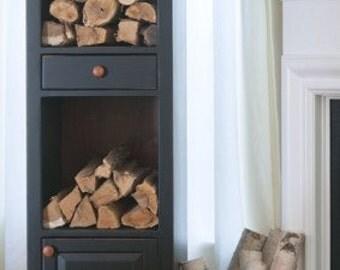Firewood Storage, Chimney Cabinet - Painted