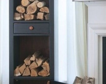 Firewood Storage, Chimney Cabinet - Painted, One Color
