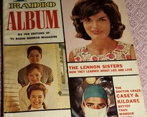 1963 Annual Copy of TV Radio Album with Jackie Kennedy on the cover!