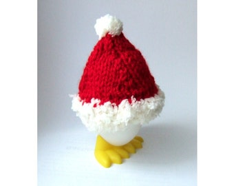 Egg cozy Santa's Hat red and white