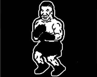 Mike Tyson's Punch-Out Decal , Nintendo Punch-Out Game, Nintendo Vinyl Car Decal
