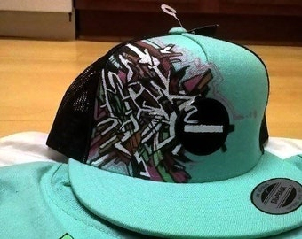 """Color is Power Custom painted hat  """"It's all about the game...Still Ballin"""",, Snapback , Baseball Hat,"""