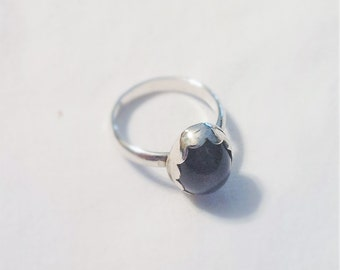 925 Silver and Amethyst Ring