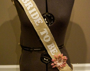 Rustic Girly Bridal Sash