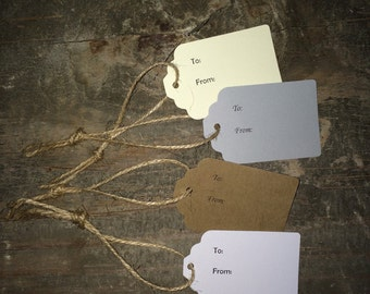 To and From Tags w/ Jute Twine 6-Pack