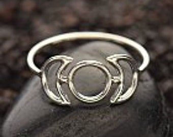 20% OFF SALE! Sterling Silver Moon Phases Ring, Silver Moon Phases Ring. Moon Ring. Silver Moon Ring. Oxidized Moon Ring. Sizes 6,7, &8. 053
