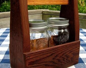 Carpenter's Box Cedar with Handle Reclaimed Wood - Mason Jar Holder, Planter, Centerpiece, Mail Holder
