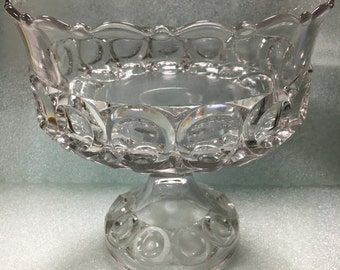 Etched Glass  Serving Dish