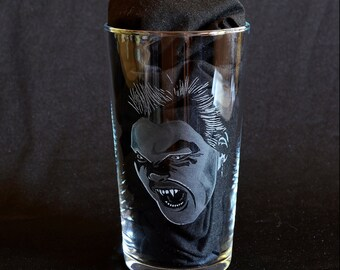 Vampire David (kiefer sutherland) - The Lost Boys Hand Engraved Beer Pint Glass by JayEngrave