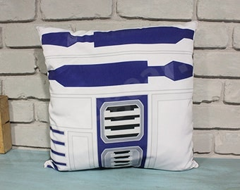 Star Wars R2D2 The Force Awakens Decorative Pillow Cover, Geek Throw Pillow, Robot Pillow Cover, Space Home Decor