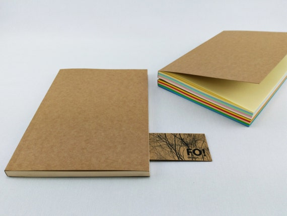 colored paper journal notebook a5 journal sketchbook blank