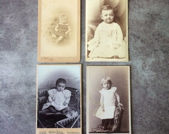 Four Wonderful Vintage Photographs CDV cards