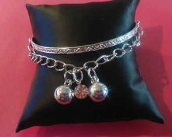 Bangle with chain bracelet