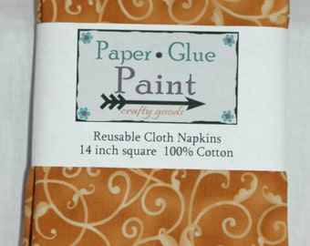 Thanksgiving Fall Cloth Napkins - Reusable Cotton